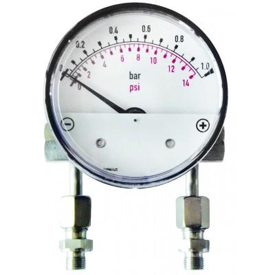 Дифманометр-индикатор высокого давления MDHI50 до 50 бар