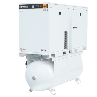 Спиральный компрессор Remeza КС5-10-500Т, 4+4 кВт., 0,69 м³/мин, 10 бар