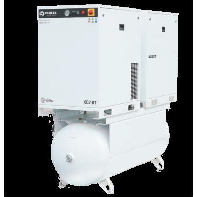 Спиральный компрессор Remeza КС7-8-500Т, 5,5+5,5 кВт., 1,21 м³/мин, 8 бар